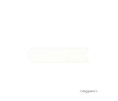 Tarjeta forma flecha blanca sin pers. (preciox51u.) - AX290.01