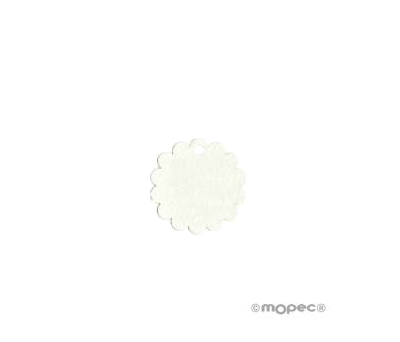 Tarjeta forma FLOR marfil. 3cm(precio x 54u) - AX210.01