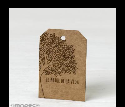 Tarjeta kraft rectangular El árbol de la vida - AX112.61.1