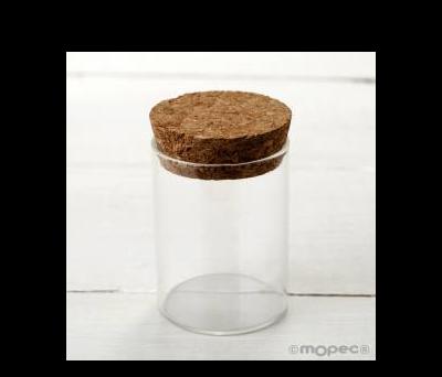 Tarro cristal con tapón de corcho Ø4.5x6.5cm. AI150