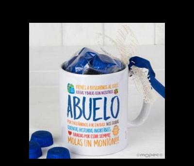 Taza cerámica Abuelo en caja regalo 6 bombones - AGB900.3.1