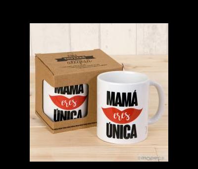 Taza cerámica Mamá Única en caja regalo - AG700.1