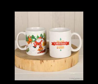 Taza cerámica Navidad batalla bolas de nieve en caja regalo ANG3048
