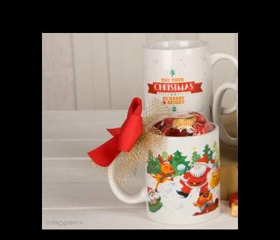 Taza cerámica Navidad bolas de nieve 6torinos en caja regalo ANGB3048