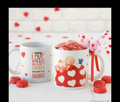 Taza cerámica Pit&Pita Love Story en caja regalo 6 torinos AGB5430