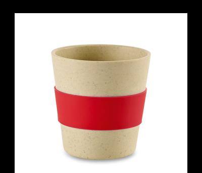 Vaso de viaje. Vaso de viaje de fibra de bambú y cáscara de arroz - st-94627.14
