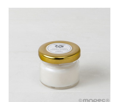 Vela aroma jazmín en frasco pequeño. Ø4.5x4cm min.6 AHI68